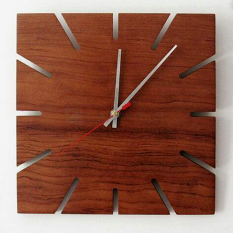 Часы настенные из натурального дерева Офис